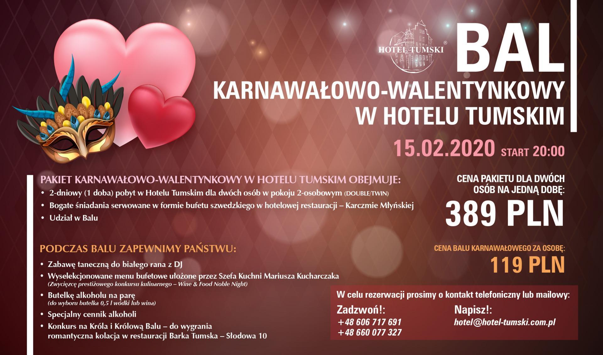 Bal Karnawałowy+Walentynki HT 2020